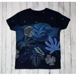 Hand painted kids t-shirt Tropical nights