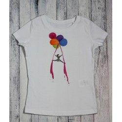 Hand painted kids tshirt Little acrobat