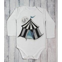 Hand painted baby bodysuit Magic tent