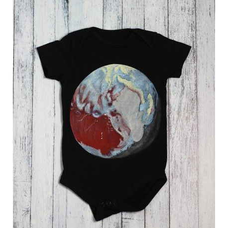 Hand painted baby bodysuit Undiscovered planet