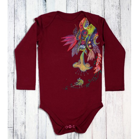Hand painted baby bodysuit Flower from a fairytail