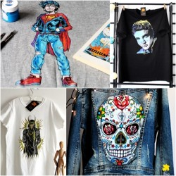 Hand painted t-shirt with your own project - big or compicated graphic