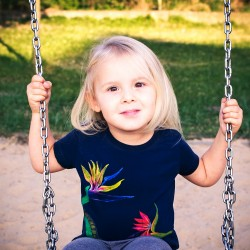 Hand painted kids t-shirt Paradise flowers