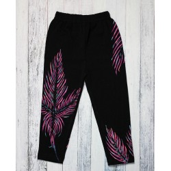 Hand painted girl leggings Palm Trees