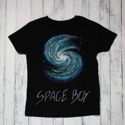 Hand painted kids t-shirt Space Boy
